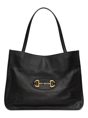 Gucci black ' 1955' horsebit medium tote