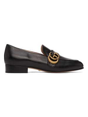 Gucci black gg marmont loafers