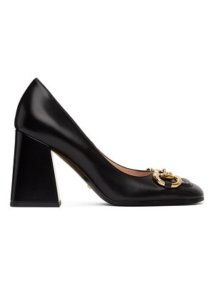 Gucci black horsebit heels