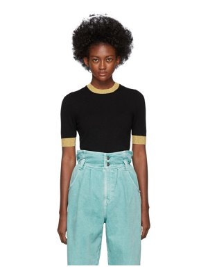 Gucci black lurex trim t-shirt