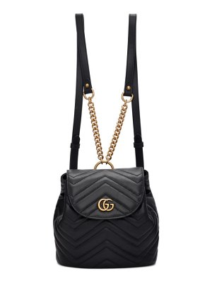 Gucci black mini gg marmont 2.0 backpack