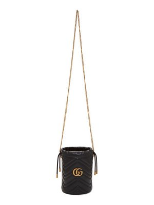 Gucci black mini gg marmont 2.0 bucket bag