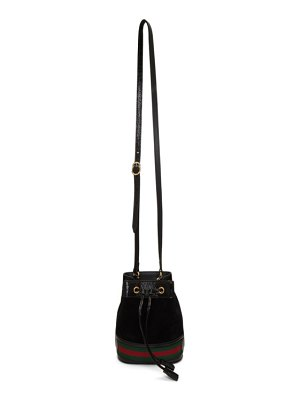 Gucci black mini ophidia bucket bag