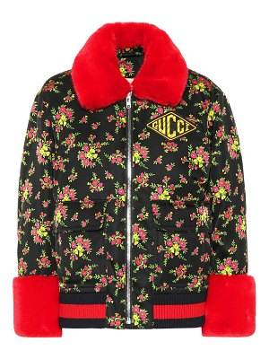 Gucci Bomber jacket with faux fur trim