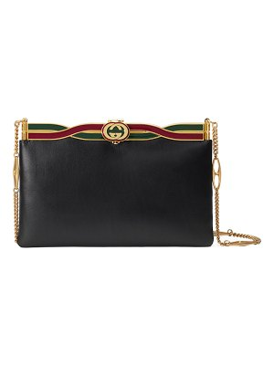 Gucci Broadway Evening Palm Lux Leather Clutch Bag
