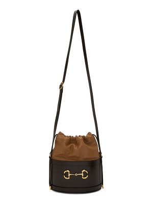 Gucci black  1955 horsebit bucket bag