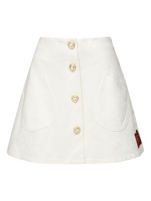Gucci Buttoned cotton mini skirt