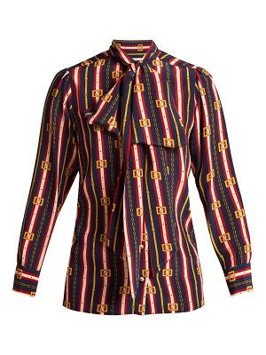 Gucci chain print silk shirt