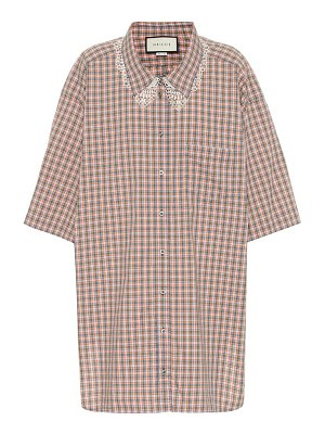 Gucci checked cotton shirt
