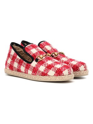 Gucci checked tweed loafers