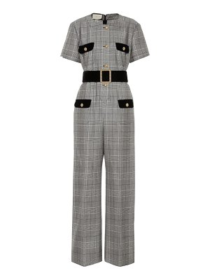 Gucci checked wool jumpsuit