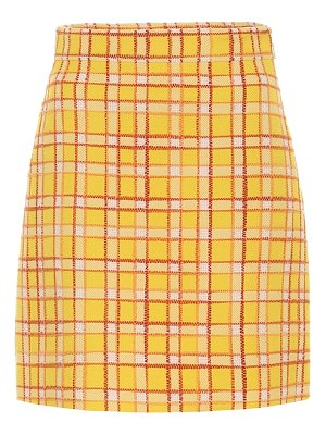 Gucci checked wool tweed miniskirt