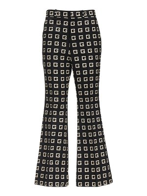 Gucci Cropped g print faille flared pants