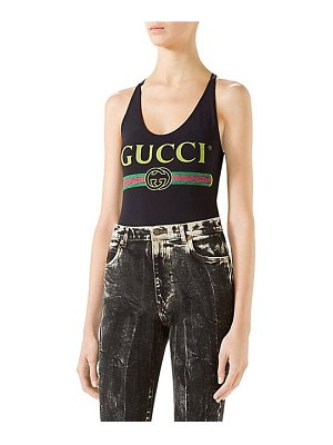 Gucci cross-back logo swimsuit