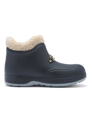 Gucci crossby zumi-plaque shearling-lined rubber boots