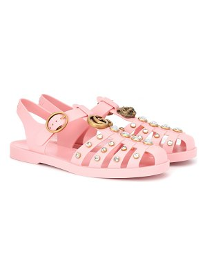 Gucci crystal-embellished jelly sandals