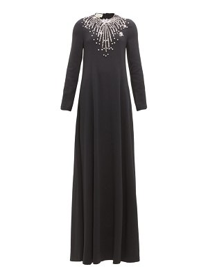 Gucci crystal-embroidered cady gown