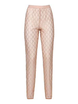 Gucci Crystal embroidered sheer tulle pants