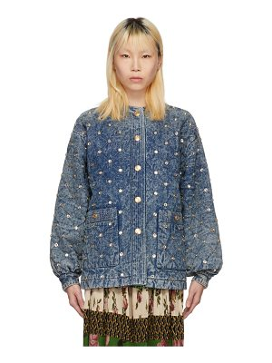 Gucci Denim Crystal Jacket