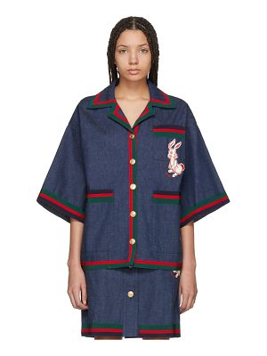 Gucci Denim Striped Piping Jacket