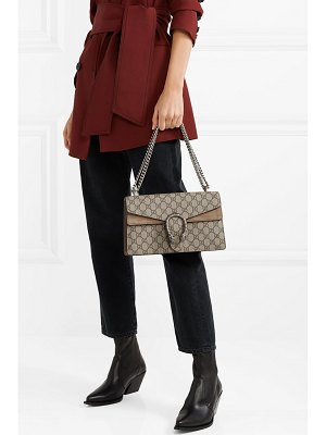 Gucci dionysus small printed coated-canvas and suede shoulder bag