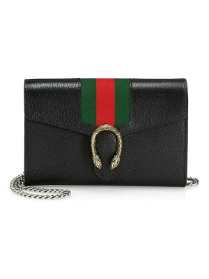 Gucci dionysus web leather shoulder bag