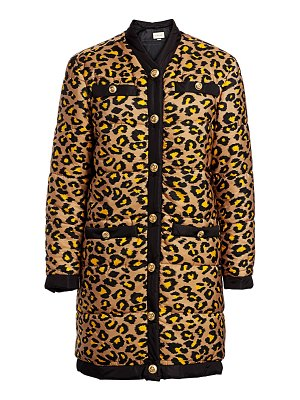 Gucci disco leopard-print long puffer coat