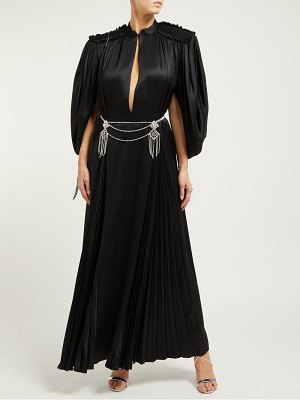 Gucci embellished back silk satin gown