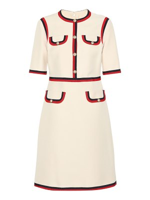 Gucci Embellished wool and silk dress