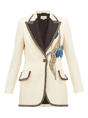 Gucci embroidered and embellished wool blazer