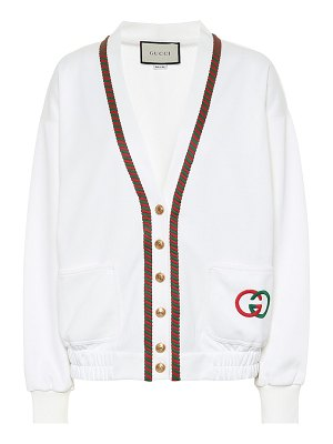 Gucci embroidered cotton-blend cardigan