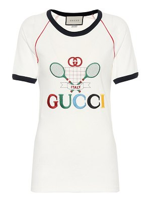 Gucci embroidered cotton-jersey t-shirt