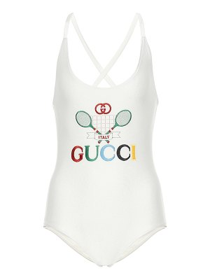 Gucci embroidered one-piece swimsuit