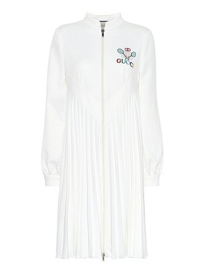 Gucci embroidered technical jersey dress