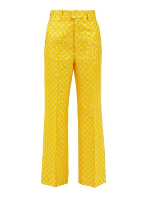 Gucci flared gg-jacquard trousers