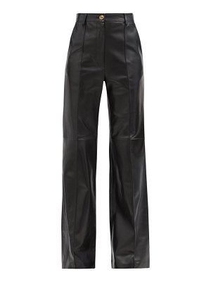 Gucci flared leather trousers