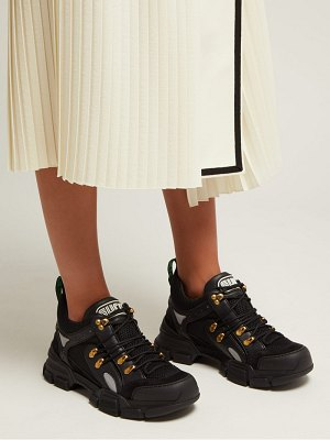 Gucci Flashtrek leather-trimmed trainers