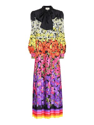 Gucci floral silk maxi dress