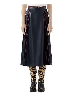 Gucci French Plonge Leather Skirt