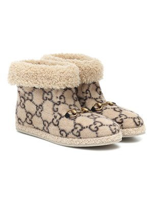 Gucci fria gg wool-blend ankle boots