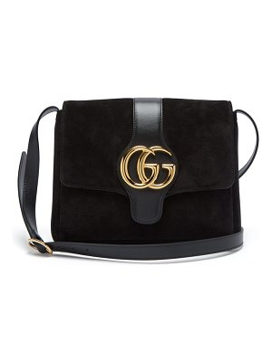Gucci gg arli suede and leather cross body bag
