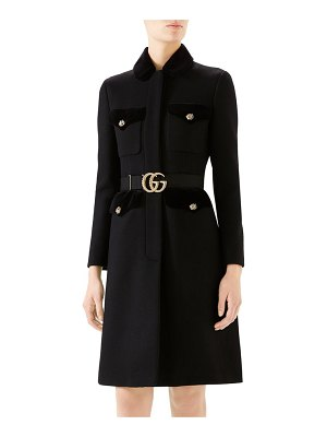 Gucci gg belt military coat