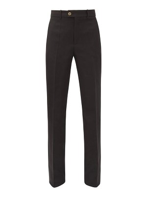 Gucci gg-button tailored silk-blend cady trousers