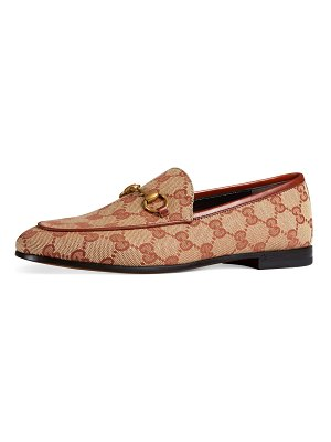 Gucci GG Canvas Flat Loafers
