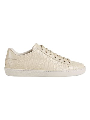Gucci gg embossed ace sneaker