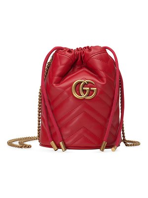 Gucci GG Marmont 2.0 Mini Leather Bucket Bag