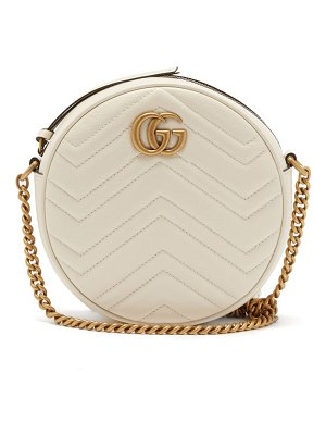 Gucci gg marmont circular leather cross body bag