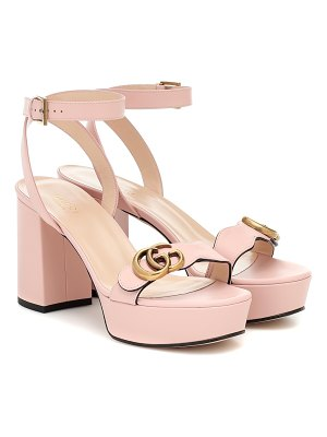 Gucci gg marmont leather plateau sandals