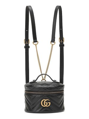 Gucci gg marmont mini leather backpack