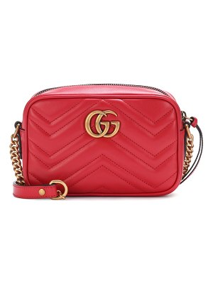 Gucci GG Marmont Mini matelassé leather crossbody bag
